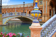 Seville Sevilla Plaza de Espana Andalusia Spain. Square Royalty Free Stock Photo