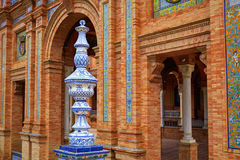 Seville Sevilla Plaza de Espana Andalusia Spain. Square Royalty Free Stock Images