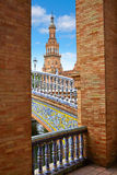 Seville Sevilla Plaza de Espana Andalusia Spain. Square Royalty Free Stock Photos