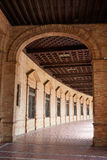 Seville Sevilla Plaza de Espana Andalusia Spain. Square corridor Royalty Free Stock Photography