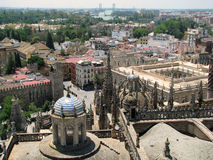 Seville (Sevilla, Spain). The view on Seville (Sevilla, Spain) as seen from the cathedral stock images