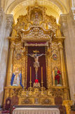 Seville - The side altar of El Cristo del Amor by Juan de Mesa (1620) in baroque Church of El Salvador (Iglesia del Salvador). Stock Photo