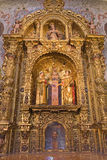 Seville - The side altar of st. Justina and Rufina in baroque Church of El Salvador (Iglesia del Salvador). Royalty Free Stock Photo