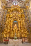 Seville - The side altar of Virgen de las Aqua completed in year 1731 by various artists in baroque Church of El Salvador Royalty Free Stock Photography