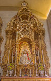 Seville - The side altar from year 1718 - 1731 by Jose Maestre in baroque Church of El Salvador (Iglesia del Salvador) Stock Photo