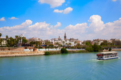Seville skyline and Algonso XIII channel Andalusia Royalty Free Stock Photos