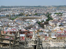 Seville (Spain). The view on Seville (Spain) with the corrida arena in the center as seen from the cathedral Stock Images