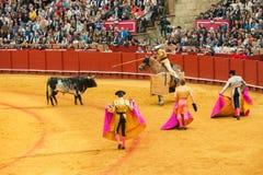 SEVILLE, SPAIN - April, 28: Corrida At Maestranza Bullring On Ap Royalty Free Stock Photos