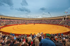 SEVILLE, SPAIN - April, 28: Corrida at Maestranza bullring on Ap Stock Image