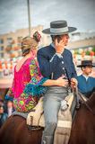 SEVILLE, SPAIN - April, 26: Horse riders at the Seville's April Royalty Free Stock Image