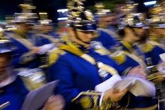 Military band at the Semana Santa Fiesta in Malaga Spain stock photography
