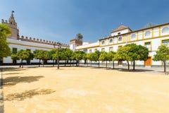 Seville, Spain - Architecture barrio Santa Cruz district. Sevilla, Spain - Architecture barrio Santa Cruz district stock image