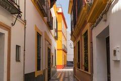 Seville, Spain - Architecture barrio Santa Cruz district. Sevilla, Spain - Architecture barrio Santa Cruz district stock photo