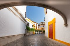 Sevilla, Spain - Architecture barrio Santa Cruz district. Seville, Spain - Architecture barrio Santa Cruz district royalty free stock photo