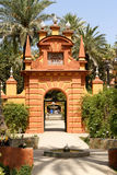 Gardens of Royal Alcazars of Seville, Spain Stock Image