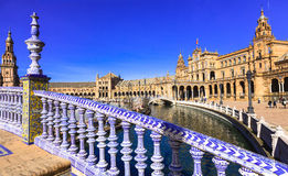 Seville, Spain. Beautiful Plaza de Espana royalty free stock images