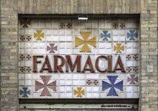 Seville, Spain - ceramic tile pharmacy store front - 3