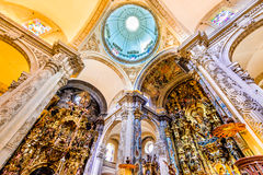 Seville, Spain - Church El Salvado. SEVILLE, SPAIN - MAY 9, 2016: Basilica and Dome in Church of El Salvador, Iglesia de El Salvador, Andalusia, Seville, Spain Stock Image