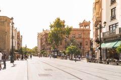 Avenida de la Constitucion Stock Photography