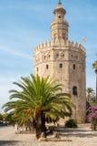 SEVILLE, SPAIN - CIRCA OCTOBER 2017: Golden tower or Torre del O stock image