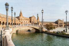 A view of Plaza de Espana, in Seville, Spain Stock Images