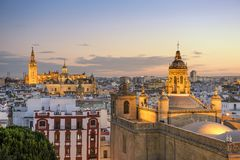 Seville, Spain City Skyline Royalty Free Stock Image