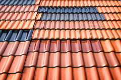 seville spain för tak för carmona fästningport tegelplattor Arkivfoton