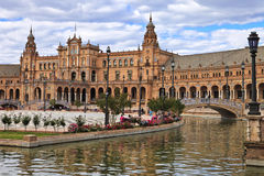 Seville, Spain - famous Plaza de Espana, Andalusia Royalty Free Stock Photo