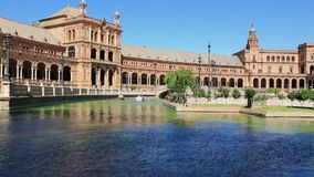 Seville, Spain - famous Plaza de Espana. Old landmark. Stock Photography