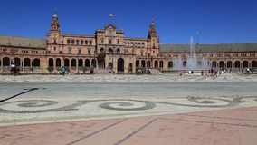 Seville, Spain - famous Plaza de Espana. Old landmark. Royalty Free Stock Photos
