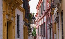 Seville, Spain - Historical Architecture barrio Santa Cruz district. Seville, Spain - Architecture barrio Santa Cruz district royalty free stock photo