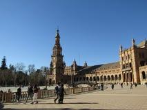 seville Spain Hiszpańszczyzny Obciosują Plac De Espana obraz stock