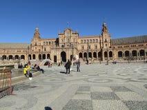 seville Spain Hiszpańszczyzny Obciosują Plac De Espana fotografia stock