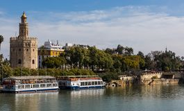 Seville is the capital of the autonomous community of Andalusia in southern Spain stock photo