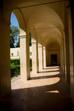 Seville, Spain - June 19: Courtyard in the in the Alcazar garden Stock Images