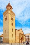 Iglesia de San Marcos Church of San Marcos on St. Mark`s Squar. Seville, Spain - June 08,2017: Iglesia de San Marcos Church of San Marcos on St. Mark`s Square royalty free stock photography