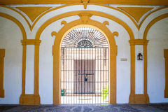 SEVILLE, SPAIN - JUNE 4, 2014 Interior of the Royal Alcazar in S. Stock Image