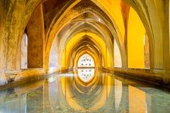 SEVILLE, SPAIN - JUNE 4, 2014 Interior of the Royal Alcazar in S Stock Image