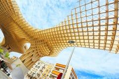 Metropol Parasol is a wooden structure located at La Encarnacion. Seville, Spain - June 08, 2017 : Metropol Parasol is a wooden structure located at La Stock Photo