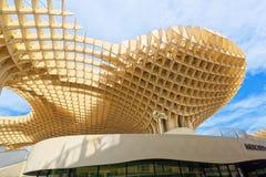 Metropol Parasol is a wooden structure located at La Encarnacion. Seville, Spain - June 08, 2017 : Metropol Parasol is a wooden structure located at La Stock Images