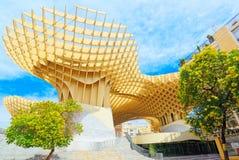 Metropol Parasol is a wooden structure located at La Encarnacion. Seville, Spain - June 08, 2017 : Metropol Parasol is a wooden structure located at La Royalty Free Stock Images