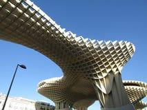 Seville, Spain - The Metropol Parasol walkway - Old quarter stock images