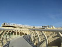 Seville, Spain - The Metropol Parasol walkway - Old quarter royalty free stock image