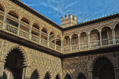 Gallery inside a Moorish castle Royalty Free Stock Photo