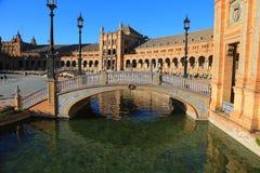 Seville spain Plaza de Espana Arkivfoto