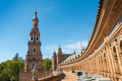 Seville Spain Plaza de Espana Royalty Free Stock Photo