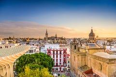 Seville Spain Skyline Stock Images