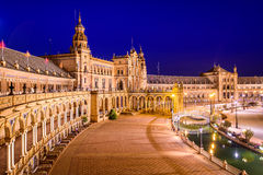 Seville, Spain at Spanish Square Royalty Free Stock Images