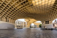 Metropol Parasol in Seville. Seville,Spain on 21st Sept 2017: Metropol Parasol is a wooden structure located at La Encarnacion square, in the old quarter of Stock Photos
