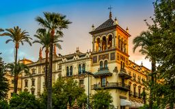 Free Seville Spain Sunset Landmark Andalucia Spanish Moorish Architecture Stock Photography - 160992772